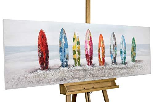 KunstLoft® Acryl Gemälde 'Surf Siesta' 150x50cm handgemalt Leinwand Bild