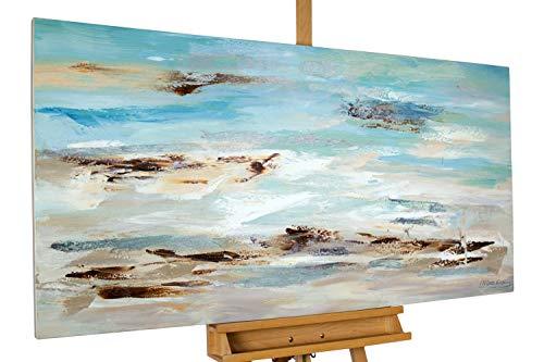 KunstLoft® Acryl Gemälde 'Meeresbrandung im Morgendunst' 140x70cm handgemalt Leinwand Bild