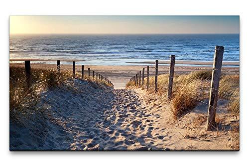 Paul Sinus Art Bilder XXL Niederlande Strand 120x70cm Wandbild auf Leinwand