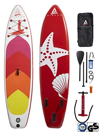 Sena AIRFUN SUP Paddleboard aufblasbar, TÜV geprüft | 305x76x15cm | 10.0' | Traglast 150 kg | Komplett-Set Stand UP Paddle Board, iSUP Paddling Paddelboard
