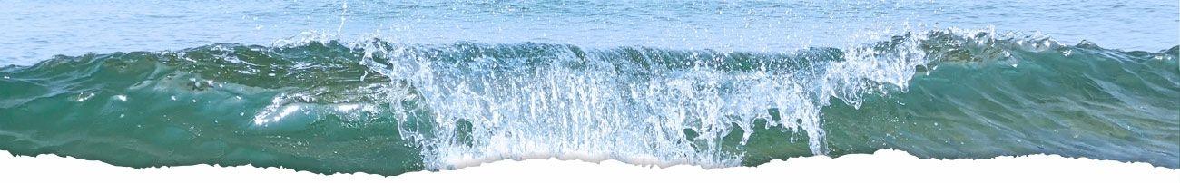 Blick auf das Meer. Welle an der Ostsee.